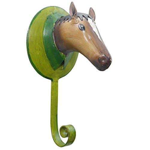 Pape Wandhaken Garderobenhaken Pferd Metall bunt bemalt Shabby Landhaus
