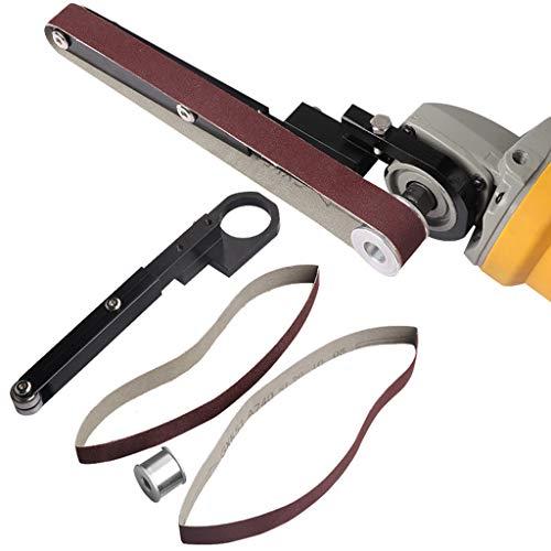 KunmniZ Lijadora lijadora de cinta de lijado cabeza adaptador convertir con cinturones de lijado carpintería DIY Herramientas Accesorios
