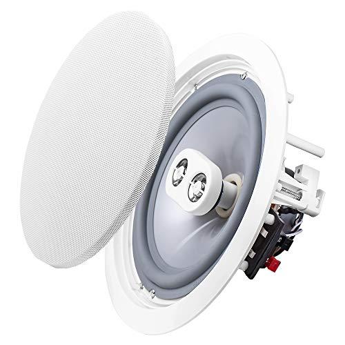 OSD Audio Weatherproof 8' in Ceiling Dual Tweeter Single Stereo Speaker ICE800TTWRS Single White