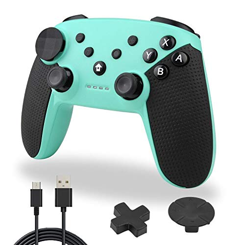 Wireless Switch Pro Controller,TechKen Bluetooth Switch Controller Kabellos Ersatz Gamepad Gaming Joystick Dual Shock Vibration Controller Game Zubehör für Switch Console (Kirschblüten Rosa)