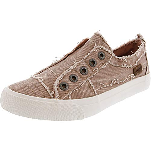 Blowfish Women's Play Smoked Twill Dirty Pink Hipster Ankle-High Fabric Sneaker - 7.5M