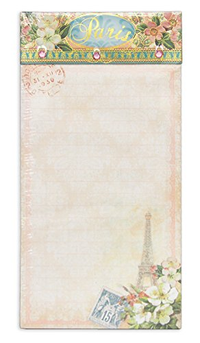 Punch Studio Paris Eiffel Tower Embellished Magnetic List Pad with Jewels