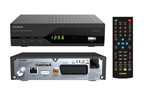 Comag SL30T2 Full-HD HEVC DVBT/T2 Receiver (PVR Ready, H.265, HDTV, HDMI, SCART, Mediaplayer, USB 2.0) schwarz