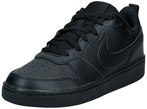 Nike Unisex-Child Court Borough Low 2 (GS) Sneaker, Black Black Black, 38 EU
