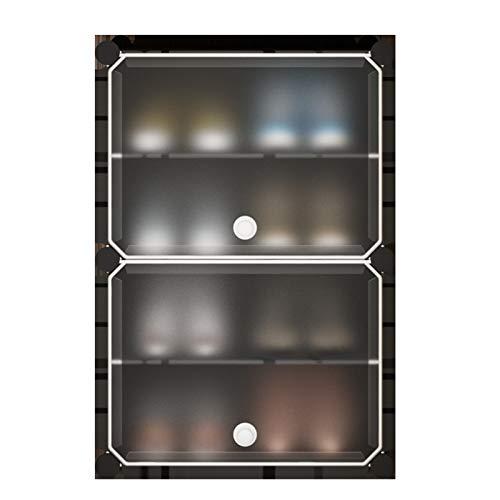 MICEROSHE Zapatero Conveniente Gerente de Almacenamiento portátil de Zapatos con Caja de Zapatos de Puerta para Colocar Zapatos Regalos para el Hogar (Color : Black, Size : 44x31x65cm)