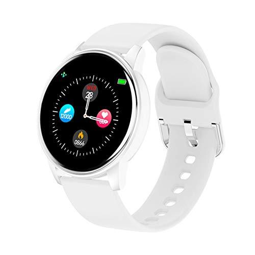 JIUTAI Reloj inteligente para la salud y la actividad física, pulsera inteligente ZL01, pulsera de actividad con frecuencia cardíaca, para hombre y mujer, color blanco
