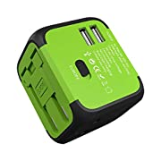 JMFONE International Travel Adapter 2 USB Universal Power Plug with Europe UK, EU, AU, US Plugs for 200 Countries for…