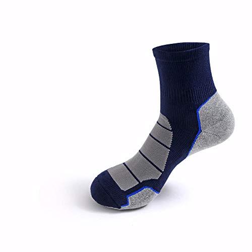TIGERROSA kleuren sokken handdoek vloer vochttransport deodorant mannen sportbasketbal rijden in de buis lange buis sokken een verpakking met 4 paar blauw