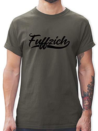 Geburtstagsgeschenk Geburtstag - Fuffzich 50. Geburtstag - XXL - Dunkelgrau - Tshirt Herren 50 Geburtstag fuffzich - L190 - Tshirt Herren und Männer T-Shirts