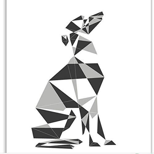Poster en canvas muurkunst abstract schilderwerk Nordic hond woonkamer geometrische afbeelding modedecoratie