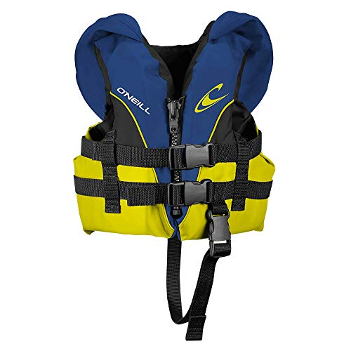 O'Neill Wetsuits Infant Superlite USCG Life Vest, Pacific/Yellow/Black:Yellow, 1sz