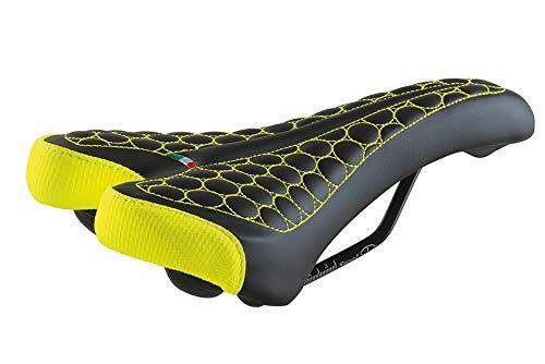Selle Montegrappa FatBike Sella MTB Trekking Unisex SM 4010 in 6 colori Made in Italy Nero Giallo