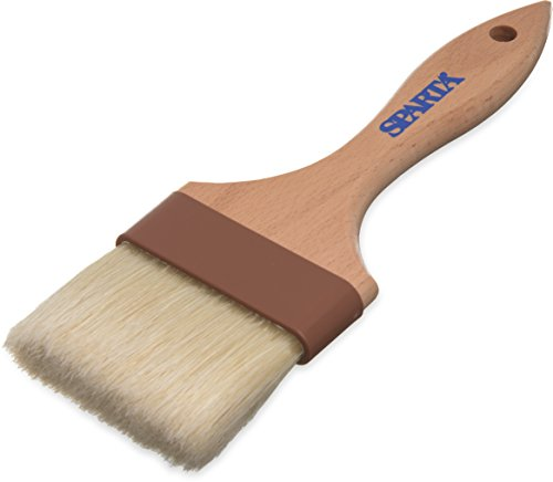 "Carlisle 4037500 Sparta Wide Flat Basting Brush with Boars Bristles, 3"""