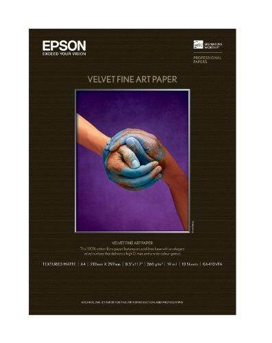 EPSON Velvet Fine Art Paper KA410VFA A4サイズ 10枚入り