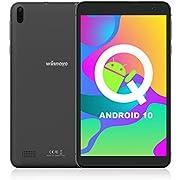 Tablet 7-Zoll WiFi Android 10 - Winnovo TS7 32GB ROM HD IPS Quad Core 5MP+8MP Camera GPS FM Bluetooth Google Verified Metallrahmen (Schwarz)