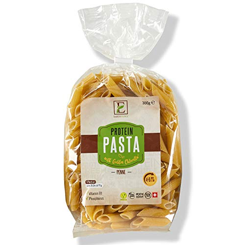 Earth Range Pasta with Vital Proteins - Dried Golden Chlorella Algae, Mung Beans and Durum Wheat Flour | 15.4g of proteins per 75g Serving | 1 x 300g Packs