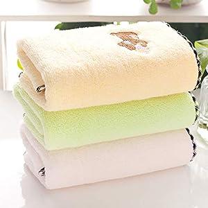Qrity 100% algodón Toallas de Bebe y Toallas para niños (3 Paquetes, 25 x 50 cm) Juego de Toallas de baño