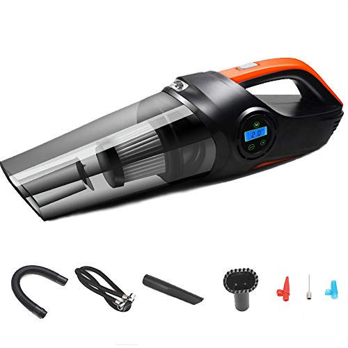 Amazing Deal FACAI Portable Car Vacuum Cleaner with LED Light Powerful Suction Handheld Auto Vacuum Cleaner for Car Cleaning