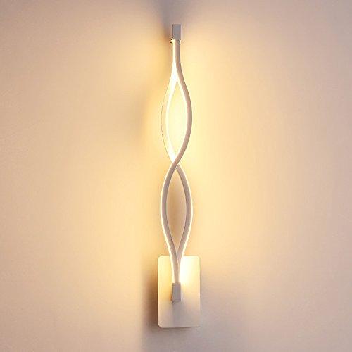 Applique Murale à LED Moderne Acrylique Créative Vague Lampe Murale Pour Chambre Lampe De Chevet Corridor Couloir Lampe Applique Murale Intérieure Appliques En Aluminium Décoratives En Métal 3 Couleurs Dimming14w,White