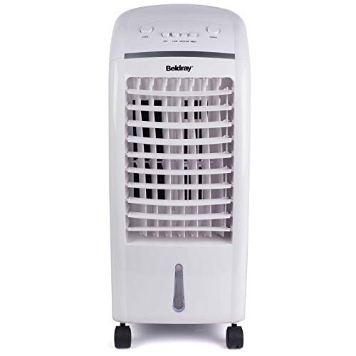 Beldray? EH3056STK 6 L Purifying Portable Air Cooler with 3 Fan Speeds and Ioniser function, Water Level Indicator & Swing Function for Air Circulation   65 W   White/Grey