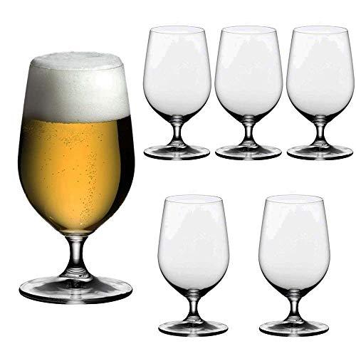Unishop Set 6 Copas de Cerveza, Vaso para Cerveza de Cristal, 37CL Apto para Lavavajillas