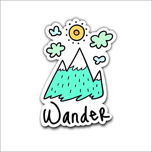 Magnet Wander The Outdoors Magnetic vinyl bumper sticker sticks to any metal fridge, car, signs 5""