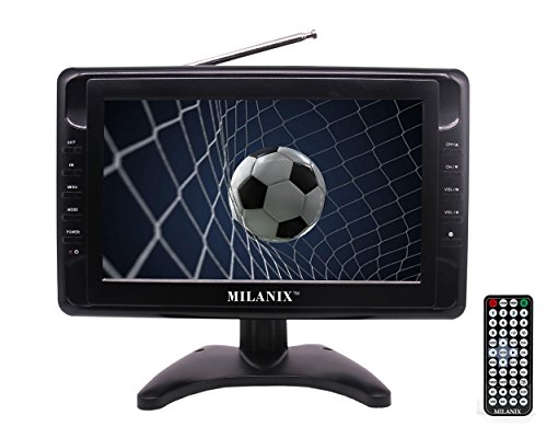 Milanix MX9 9' Portable Widescreen LCD TV with Detachable Antennas, USB/SD Card Slot, Built in...