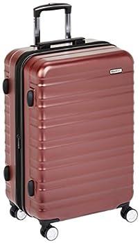 AmazonBasics Valise rigide à roulettes pivotantes de qualité supérieure avec serrure TSA intégrée - 68 cm, Rouge