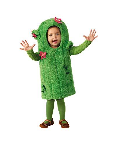 Horror-Shop Traje De Cactus Verde con Flores para Niños XS