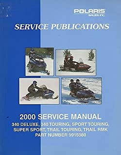 2000 POLARIS SNOWMOBILE 340 TOURING, TRAIL RMK SERVICE MANUAL P/N 9915980 (881)