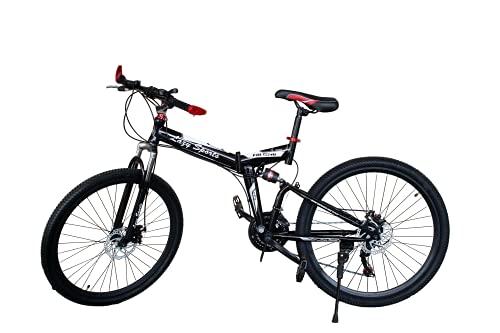 LAZY SPORTS Bicicleta Montaña Plegable con Aluminio Reforzado Ligero (Negro)