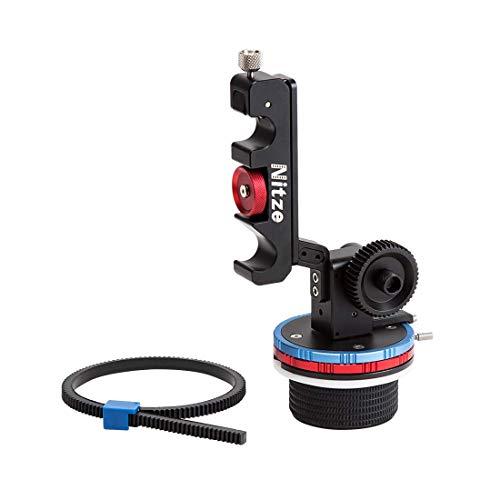 Nitze Follow Focus System A/B Schnellspanner für 15mm Stangen mit flexiblem Zahnkranz, Kurbel und Peitsche - MF15B-KIT