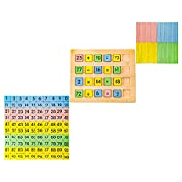 TOYMYTOY 木製百ボード番号ボードおもちゃ計数百ボードおもちゃ数学認知おもちゃ教育ゲームおもちゃ子供のための幼児