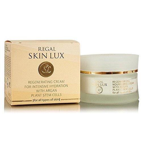 Regal Skin Lux Intensiv Anti Falten Hydratation Gesichtscreme mit Argan Pflanze Stammzellen Alle Hauttypen