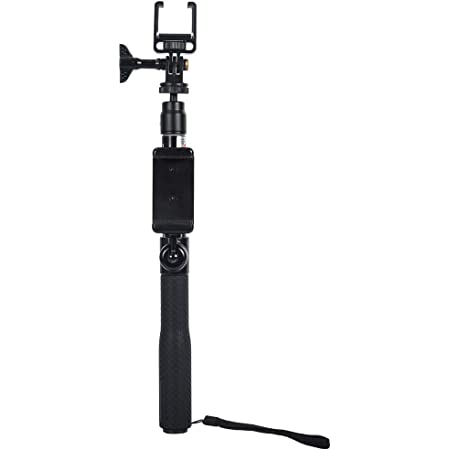 smatree telescoping selfie stick compatible with dji osmo pocket 2 osmo pocket gopro max hero 9 8 7 6 5 dji osmo action with phone holder for zooming
