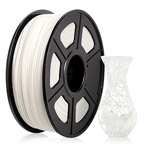 ABS Filament 1.75mm, ABS 3D Printer Filament for 3D Printer 3D Pen, ABS Filament 1KG (2.2 lb) ABS White
