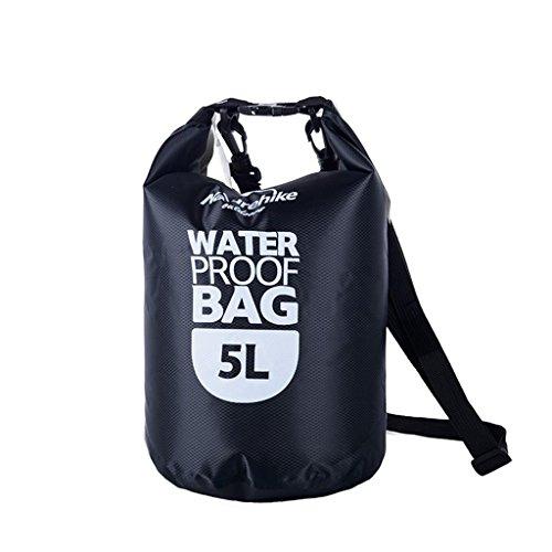 TRRE Voyage en plein air sacs étanches sac dérivantes snorkeling plage natation sac, 5L / 20L / 60L ( Couleur : Noir , taille : 5L )