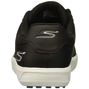 Skechers Men's Drive 4 Golf Shoe, Black/Blue, 10 W US