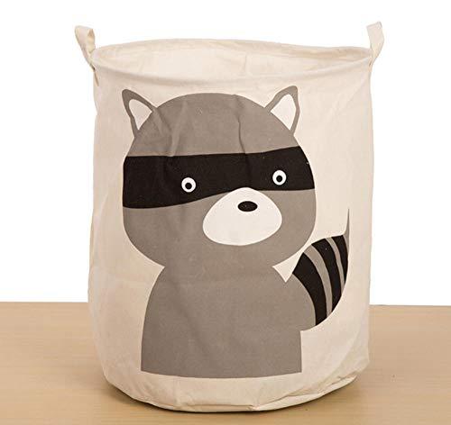 sufengshop Huishoudelijke Cartoon Dier eekhoorn Vouwen Vuile Doek Wassen Wasmand Grote Opslag Vat Voor Baby Speelgoed Diversen Kamer Organizer 40×50cm