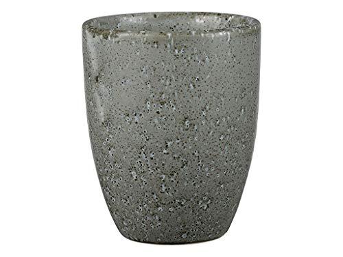 BITZ Kaffeetasse/Kaffeebecher aus robustem Steinzeug, Tasse ohne Henkel, 30 cl, grau