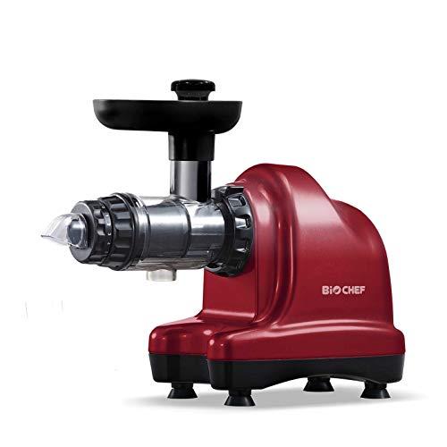 BioChef Axis Cold Press Juicer - Extractor de zumo horizontal, Procesador de alimentos, BPA Free y Silencioso. 20 Años de Garantía (plata)