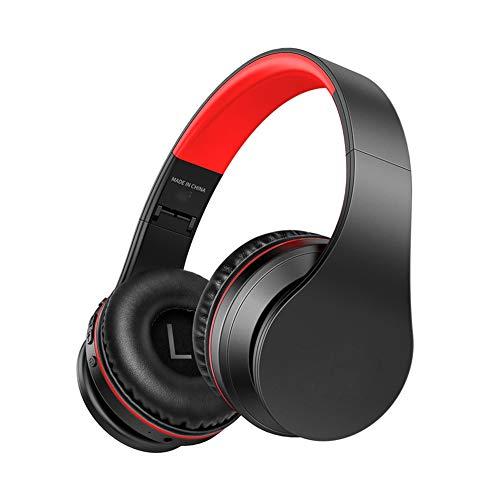 PUS Bass-Funkkopfhörer Over-Ear-Kopfhörer mit Mikrofon für Mobiltelefontabletts Noise Cancelling-Kopfhörer, Hi-Fi Deep Bass, mit Mikrofon und Lautstärkeregler WeihnachtsgeschenkeKopfhörer-2