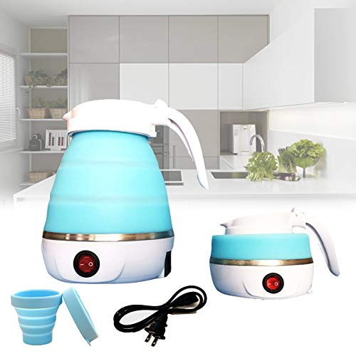 Foldable Electric Kettle Travel Ultrathin Food Grade Silicone Kettle Collapsible Water Boiler for Coffee Tea etc,Easy...