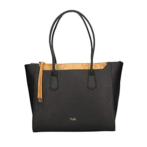ALVIERO MARTINI Shopping Bag in Pelle Nero