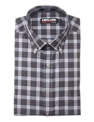 KS Kirkland Signature Men's Button Down Long Sleeve Non-Iron Sport Shirt