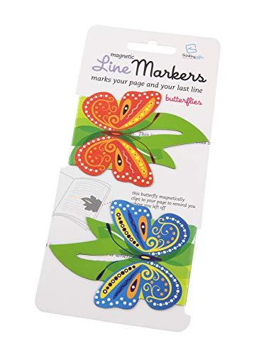 Line Markers Butterflies - Magnetische Lesezeichen: 2er Set Motiv Schmetterlinge