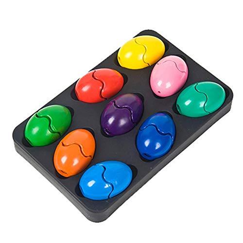 Ardorman Handflächengriff Wachsmalstifte, Kleinkinder Wachsmalstifte 9 Farben Baby-Crayon Stapelbares Spielzeug Für Kinder, Kleinkinder Und Kinder, Für Kinder Üben Malerei