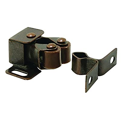 Prime-Line MP7174 Cabinet Door Catch, 1-1/4 in, Steel, Bronze, Spring-Loaded, Double Pole, Pack of 1 5 Piece