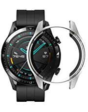 Microcase Huawei Watch GT2 46 mm Önü Kapalı Tasarım Silikon Kılıf - Gümüş