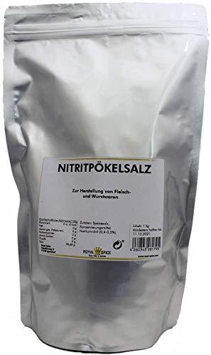 Royal Spice Nitritpökelsalz - Pökelsalz zur Herstellung von Fleisch- und Wurstwaren im wiederverschließbaren Zip-Beutel - 1kg